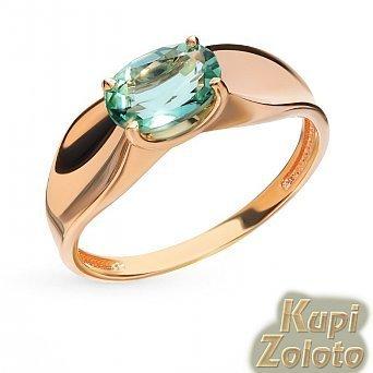 Кольцо из золота с зеленым кварцем фото из каталога интернет магазина Кумари РФ. Нежный зеленый кварц в блеске золота! Это красивое кольцо из золота привлекает внимание, оно будет потрясающе смотреться на Вашей руке. Интересное Золотой перстень скварцем замечательно выглядит и в качестве самостоятельного драгоценного украшения, и в комплекте, например, с серьгами или подвеской. Производство Ювелирной Компании Дельта Кострома